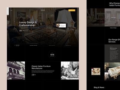 Modenese furniture store furniture design furniture ux design web design web ux ui design inspiration design ui