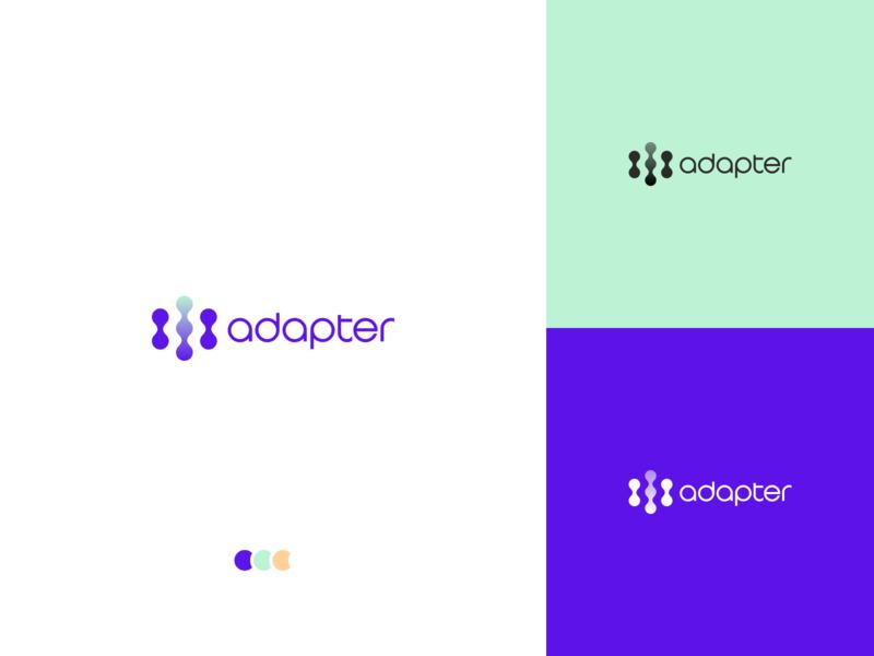 Adapter Logo Concept V2 inspiration vector typography branding illustration logo design