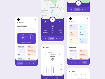 Health App V2 app interface app design app ux design ux ui design inspiration ui design