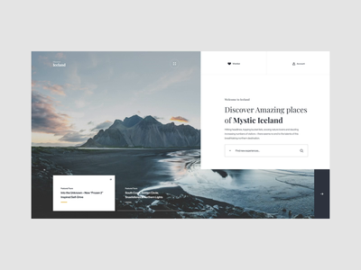 Discover Iceland - Load In brand interaction ux design web design web ux ui design inspiration ui design