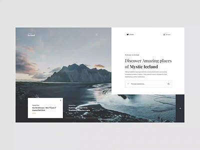 Discover Iceland UI Interaction brand interaction ux design web design web ux ui design inspiration ui design