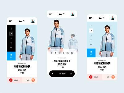 Nike Store transition brand interaction ux design web ux ui design inspiration ui design