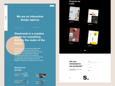 Steelmonk Agency Design brand interaction web design ux design web ux ui design inspiration ui design