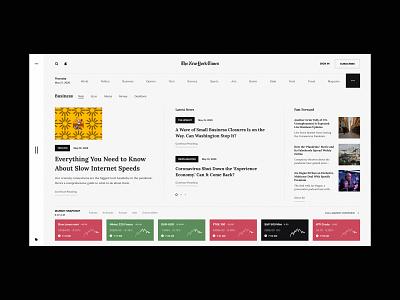 NY Times media blog nytimes ny newspaper news brand ux design web design web ux ui design inspiration ui design