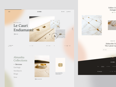 Almasika 2 luxury luxury shop shop ui shop jewelery market ui store store brand interaction ux design web design web ux ui design inspiration ui design