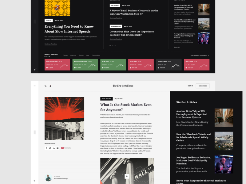News Ui Designs Themes Templates And Downloadable Graphic Elements On Dribbble