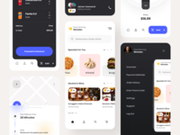 Foodio App food and drink food app foodie food delivery truck delivery app delivery app designers apple app designer application app design app ux ui design inspiration ui design