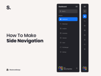 How to make Side Navigation brand interaction web design ux design web ux ui design inspiration ui design
