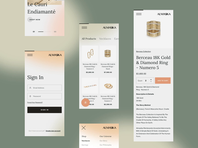Almasika Mobile brand interaction web design ux design web ux ui design inspiration ui design