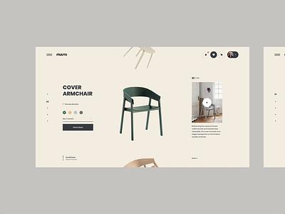 MUUTO Chairs brand interaction web design ux design web ux ui design inspiration ui design