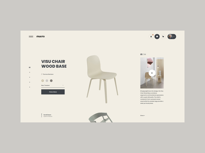 MUUTO Interaction chairs ecommerce store shop interactive transition brand interaction web design ux design web ux ui design inspiration ui design