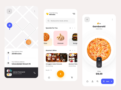 Foodio Burger menu interaction minimal motion transition interaction ux design ux ui design inspiration ui design