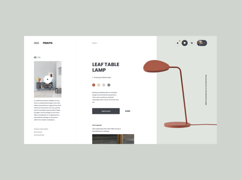 Muuto Lamps lookbook brand web design ux design web ux ui design inspiration ui design