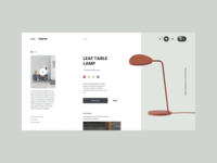 Muuto Lamps lookbook brand web design ux design web ux ui design inspiration ui design