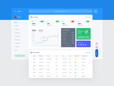 Collector Dashboard UI dashboard template dashboard design dashboard app dashboard ui dashboard ux design web ux ui design inspiration ui design