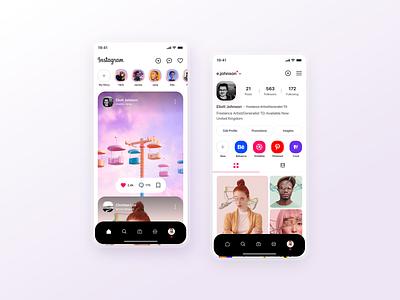 Instagram redesign concept appui app design instagramui instagram template instagram insta branding brand ux ui design inspiration ui design