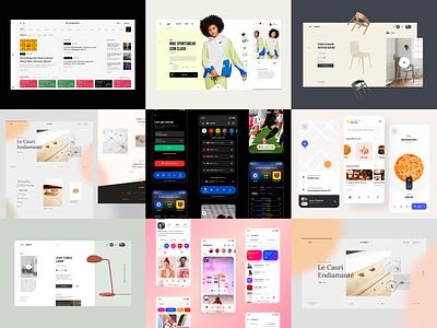 Top Nine Shots Of 2020 brand interaction web design ux design web ux ui design inspiration ui design