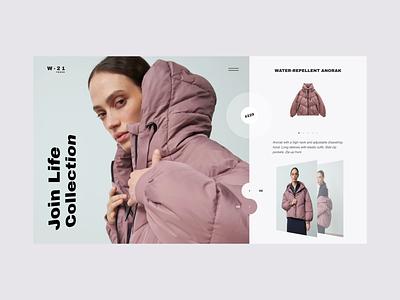 W2021 Fashion lookbook brand web design ux design web ux ui design inspiration ui design