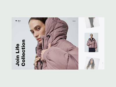 W-21 brand interaction web design ux design web ux ui design inspiration ui design