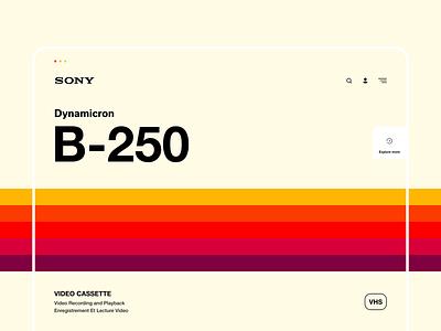 Sony VHS retro poster poster retro sony brand interaction web design ux design web ux ui design inspiration ui design