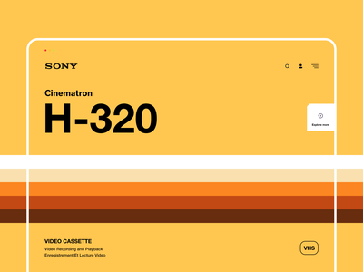 Sony VHS - H320 brand interaction web design ux design web ux ui design inspiration ui design