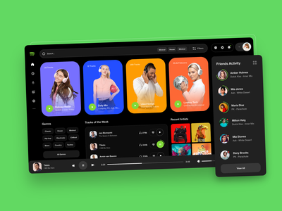 Spotify Redesign music website music web music app music player spotify music brand web design ux design web ux ui design inspiration ui design