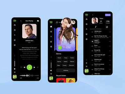 Spotify App Redesign android design ios design spotify app design spotify app spotify design spotify ui spotify brand ux design web ux ui design inspiration ui design