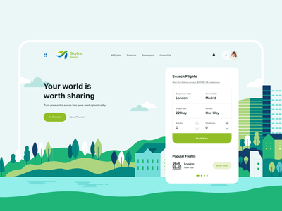 Skyline Airways booking web app booking app flight app flight book flight booking book travel design travel ui travel web design ux design web ux ui design inspiration ui design