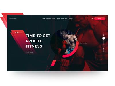 Prolife GYM inspiration design webdesign ux ui sport gym workout spa fitness prolife