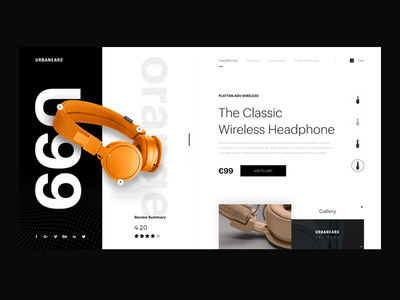Urbanears Ui  ergemla uiux ux ui design web design urbanears ui urbanears headphone music