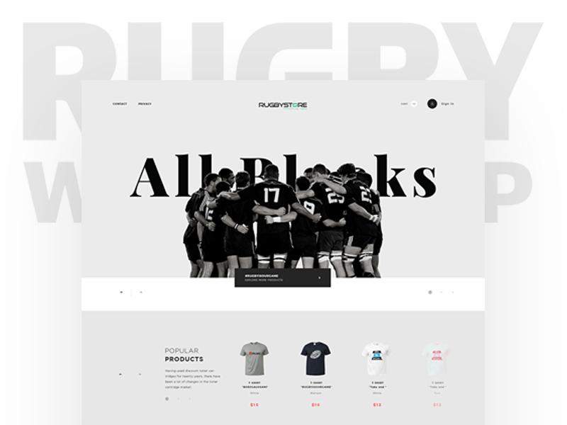 Rugbystore ui design rugby ui sport store rugby shop sport shop sport rugby rugby store