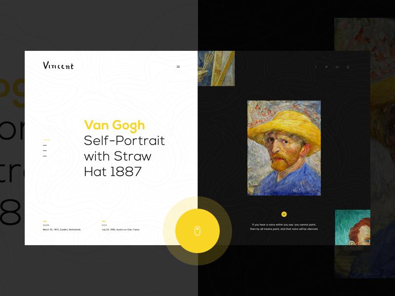 Van Gogh motion brand transition ui portfolio lookbook interaction inspiration design
