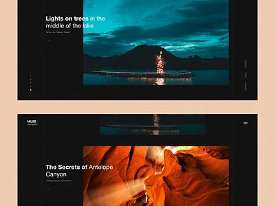 Muse Photography - 3 ui transition portfolio photography photo motion minimal lookbook interaction inspiration design brand