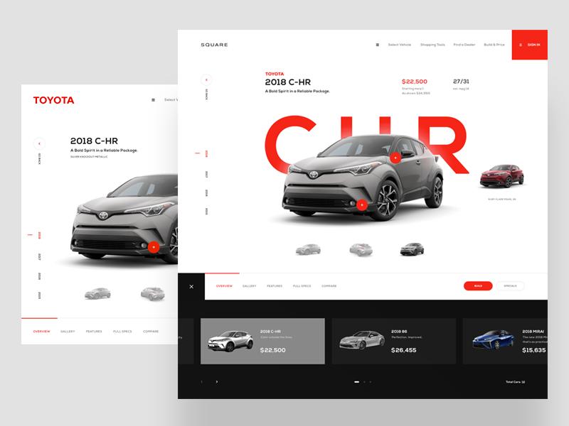 Square  - Toyota Experience ux design typography daily shop web design ux brand web ui design inspiration design ui