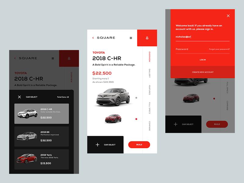 Toyota Experience 2 ergemla minimal shop clean ux design web design daily logo web brand icon ux illustration ui design inspiration design ui