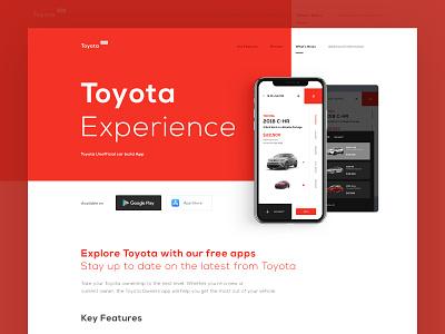 Toyota Xperience - Landing minimal ux design typography clean daily ux ui design web design web brand inspiration design ui