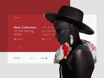 VOGUE UK photo typography daily ui fashion minimal clean ux design daily ux web design web ui design brand lookbook portfolio inspiration design ui