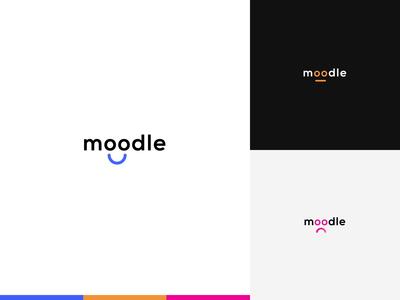 Moodle. moodle mood logo motion logo interaction design logo design logo