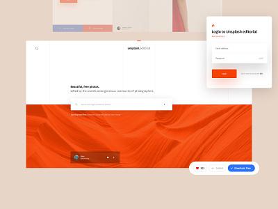 Unsplash Editorial clean minimal ux design daily ux web design web lookbook ui design brand portfolio inspiration design ui