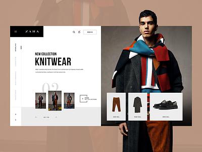 Zara Collection UI portfolio ui fashion shop daily ui clean minimal daily ux design ux web design web lookbook ui design brand portfolio inspiration design ui