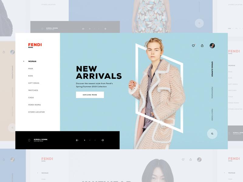 Fendi Store UI store ui design store ui store design store inspiration ux design ux web design web brand ui design design ui