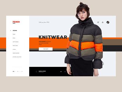 Fendi Store UI #2 ergemla fashion shop clean ux design ux web design lookbook web brand ui design portfolio inspiration design ui