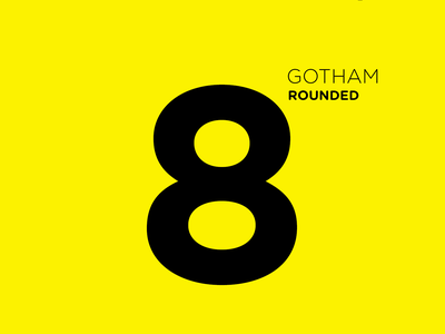 Gotham Rounded font typography color colors