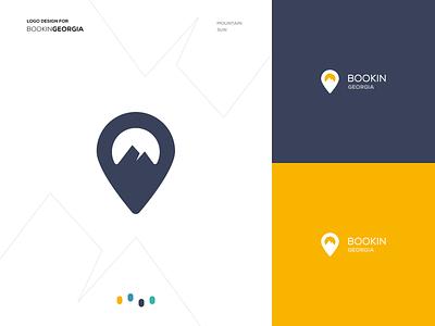 BookinGeorgia booking georgia travel logo design travel logo travel booking logo logo design logo