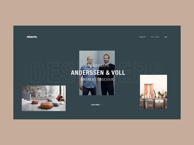 Muuto Designers Page