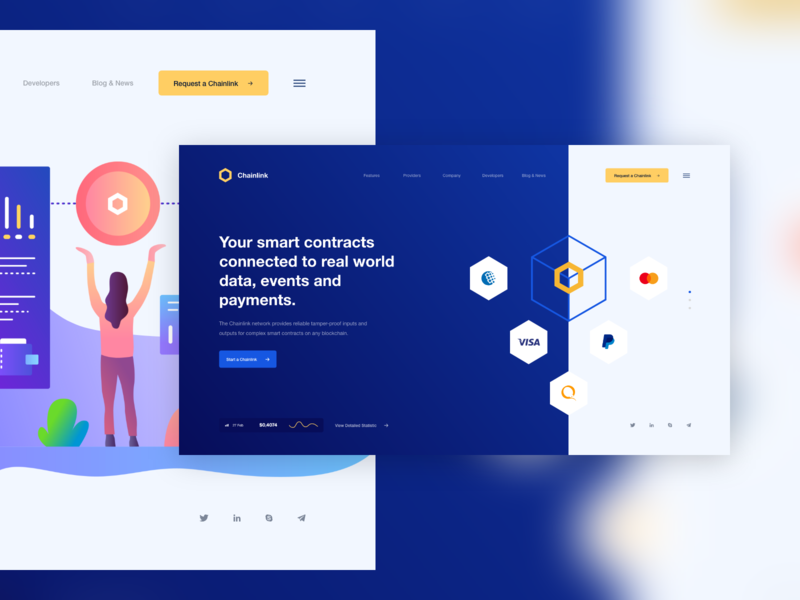 Chainlink Home Page Concept by Nicholas design for Awsmd on Dribbble