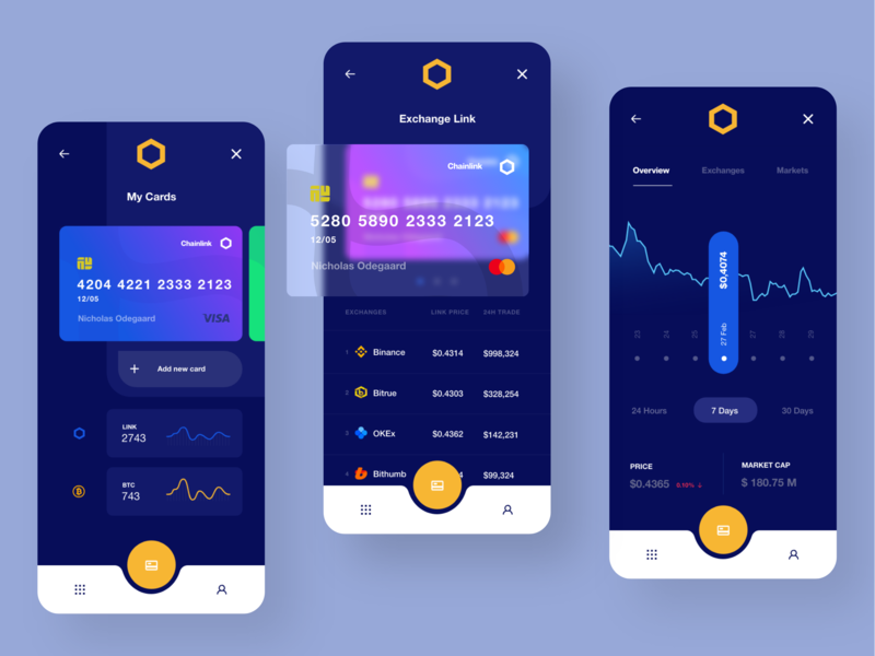 Chainlink Exchange dashboard template dashboard design dasboard ux design ux web design web ui design inspiration design ui crypto crypto currency crypto ui
