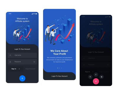 Affiliate App Login Interaction motion animation app icon branding typography vector illustration transition interaction ux ui design inspiration design ui
