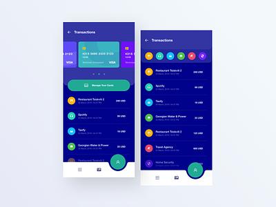 CBT Bank Wallet App - Transactions ui design ui design ux ux design app finance finance app busines business app bank bank app