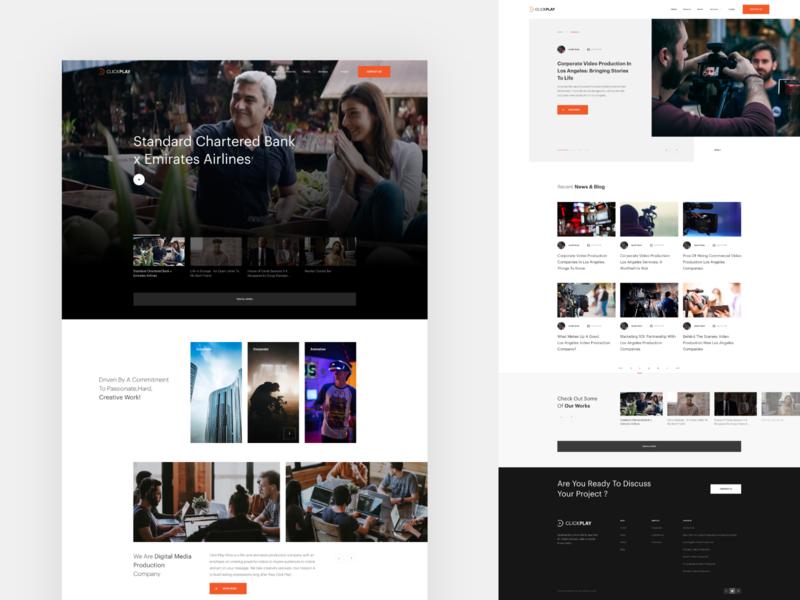 ClickPlay minimal ux design web design ux web ui design inspiration design ui